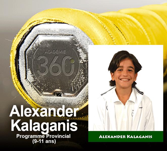 Alexander Kalaganis se mérite le Grip Jaune du Provincial