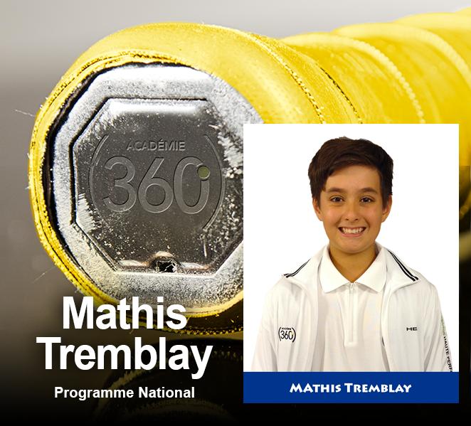 Grip jaune dans le National... Mathis Tremblay!