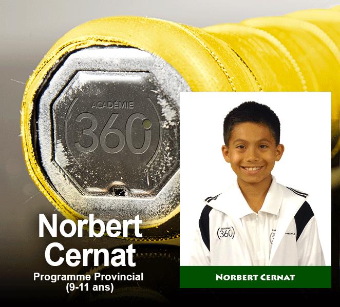 L'athlète de la semaine dans le programme Provincial revient à Norbert Cernat