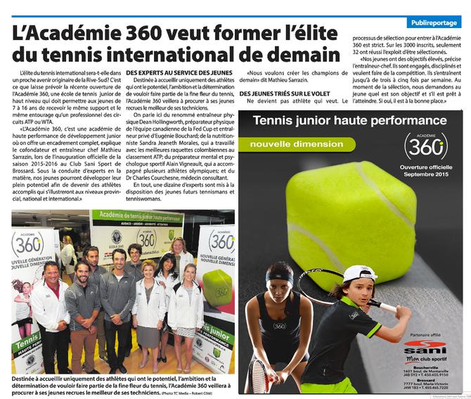 L'Académie (360) fait les manchettes