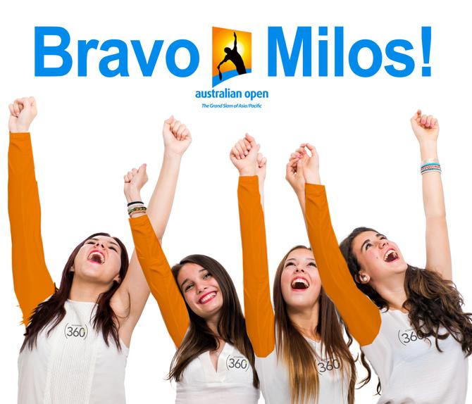 Milos Raonic... En demi-finale des Internationaux d'Australie