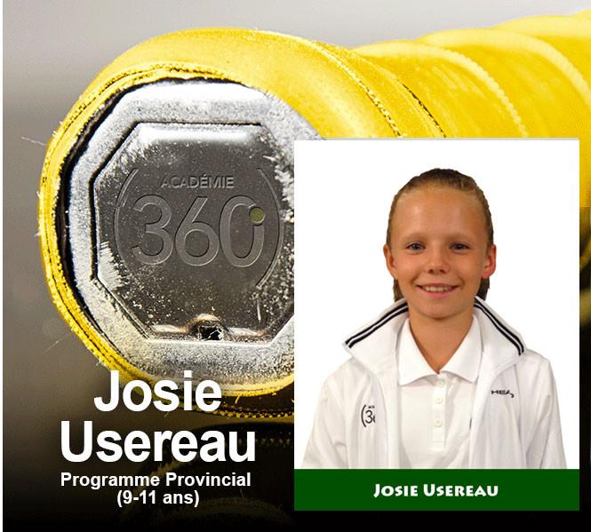 Josie Usereau : une vraie leader en fitness et un élément très positif dans le tennis.