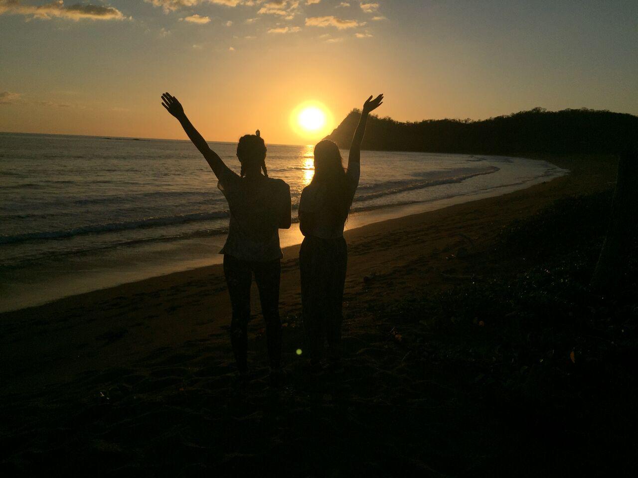 sunset bestfriends