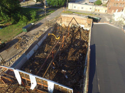 Aerial view of livery stable