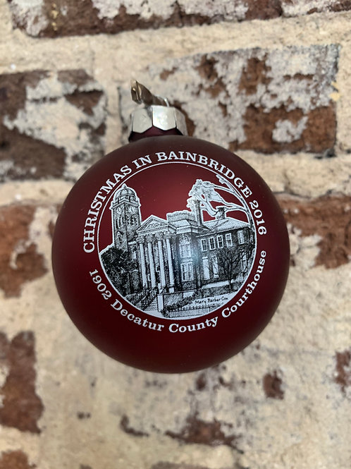 2016 - Mary Barber Cox - Christmas in Bainbridge Ornament