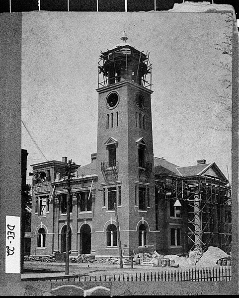 Courthouse under construction