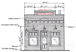 Facade rendering-Gene Dunlap
