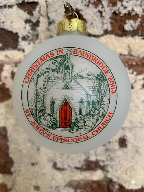 2003 - Mary Barber Cox - Christmas in Bainbridge Ornament