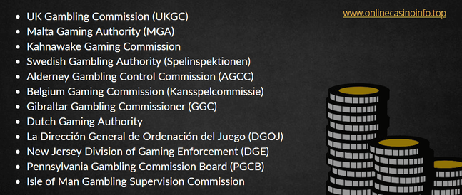gabling licensing authorities and supervision commissions