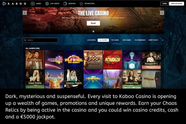 Kaboo Casino Website