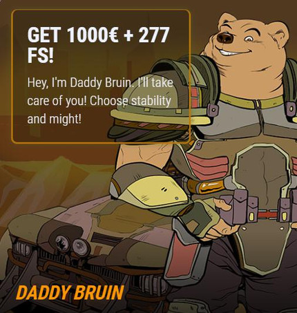Bonuses For First 5 Deposits: Daddy Bruin