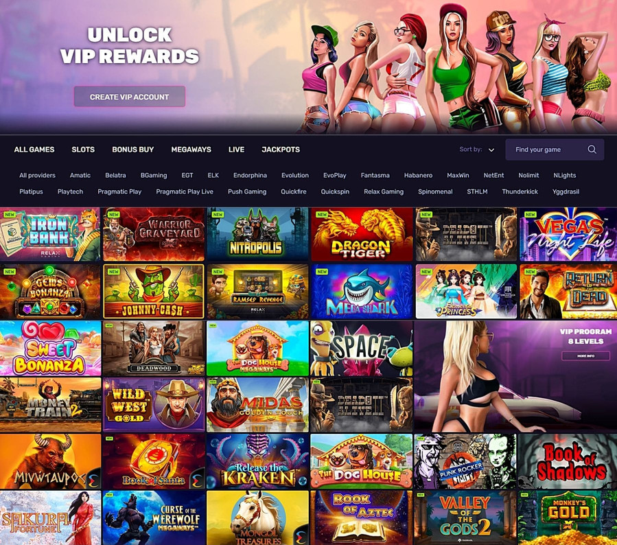 DLX casino games, slots and software providers