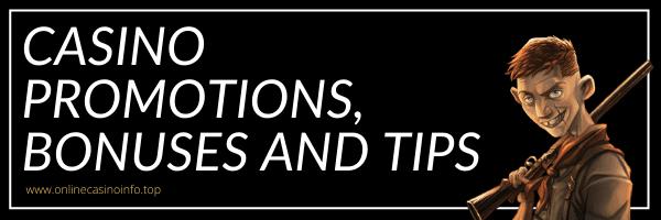 Online casino promotions bonuses and best bonus tips