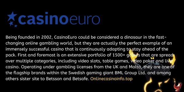 CasinoEuro review by onlinecasinoinfo