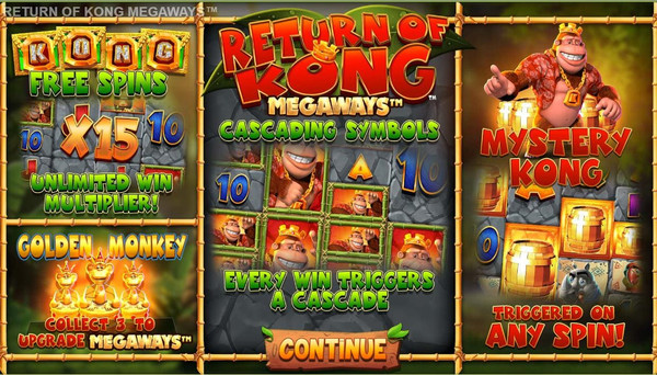 Retur of Kong Megaways Slot by Blueprint Gamig