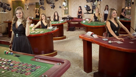 Live casino studio with real dealers