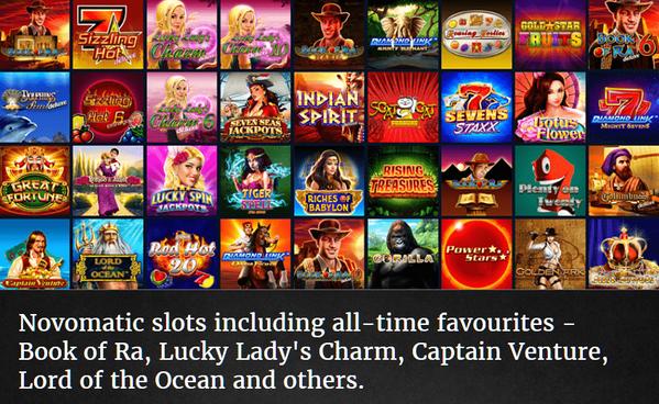 List of Novomatic slots