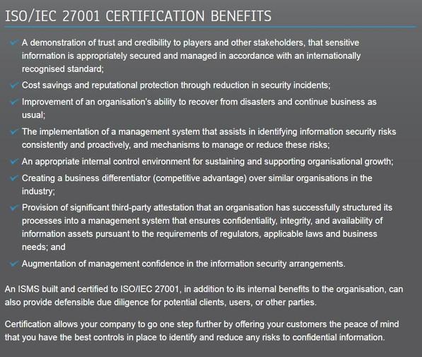 eCogra Certification Benefits