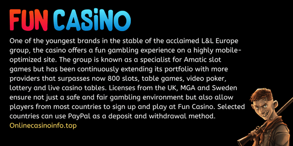 Fun Casino overview by OnlineCasinoInfo