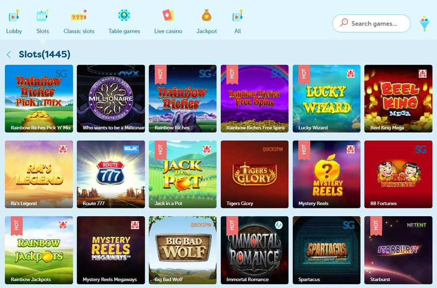 Games at Playfrank Casino