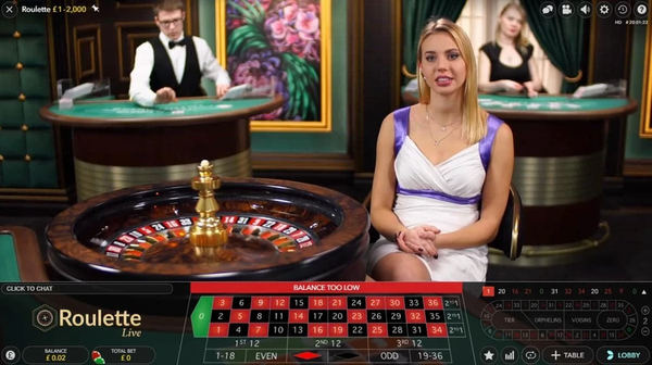 roulette at live casino with real dealer