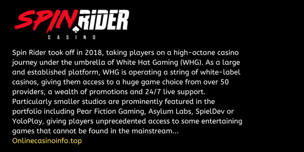 Spin Rider casino review by onlinecasinoinfo.top