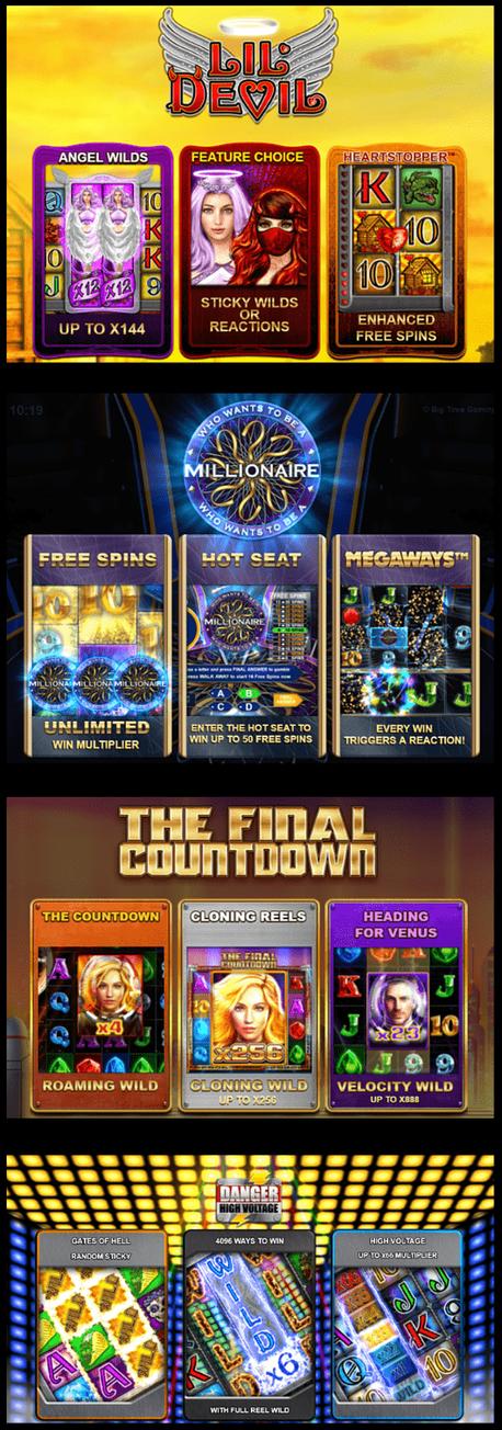 Best megaway slots by Big Time Gaming