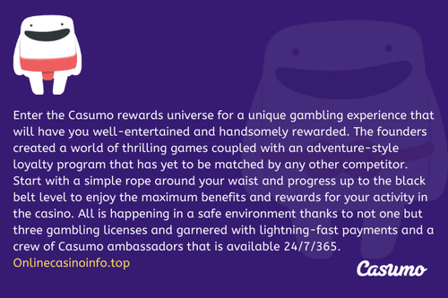 Casumo Review by onlinecasinoinfo