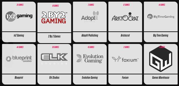 Casino software providers at Spin Rider