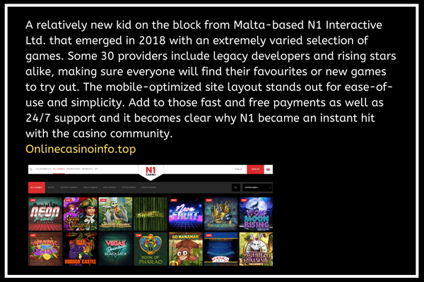 N1 Casino website information by onlinecasinoinfo.top