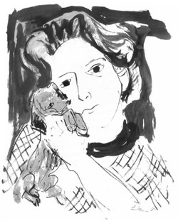 Barbara with a Dog