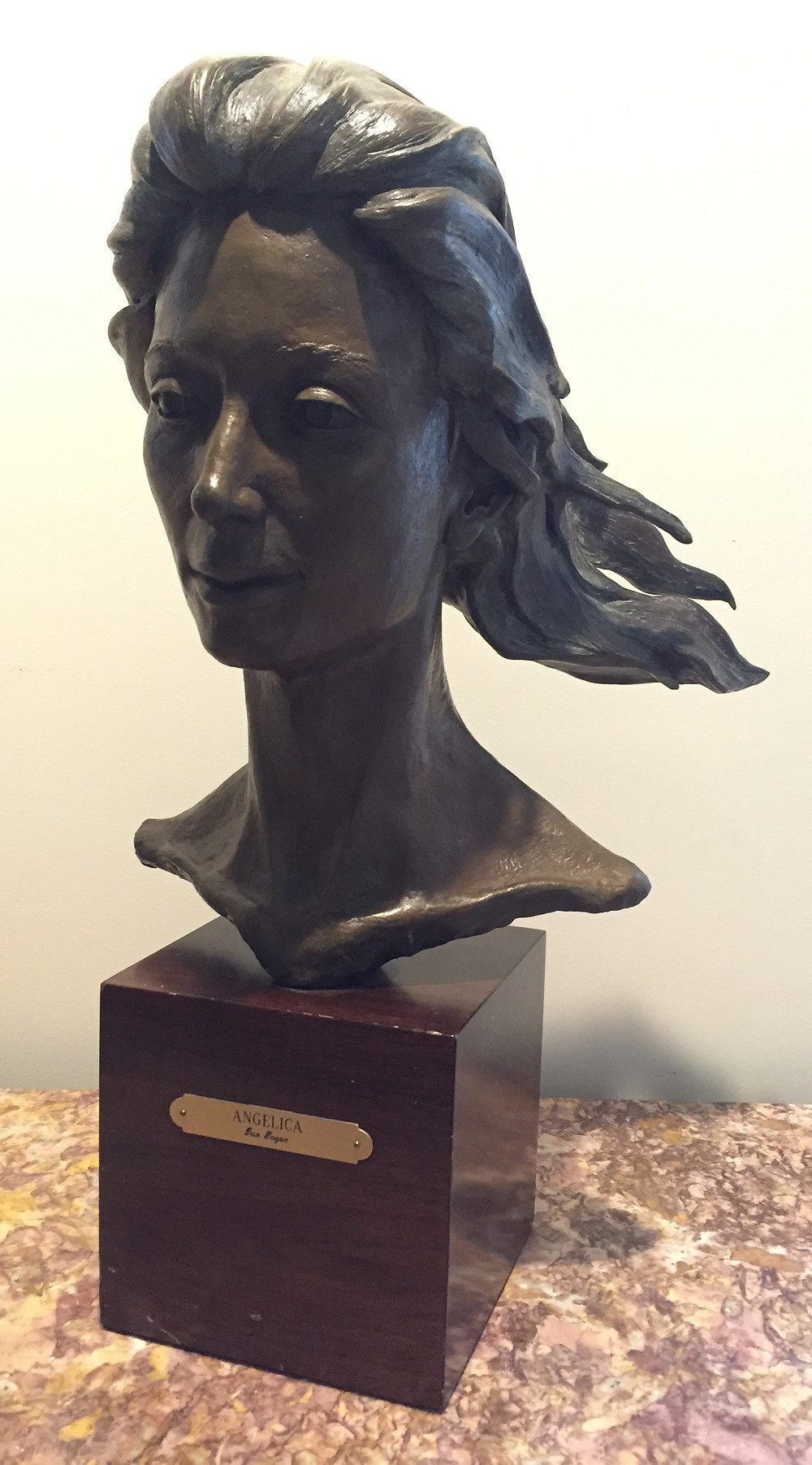 Angelica, bronze.   This is an original artist proof for the angel of the statue at the St. Davids Medical Center