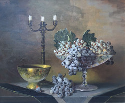 Still-life with Grapes and Candelabra