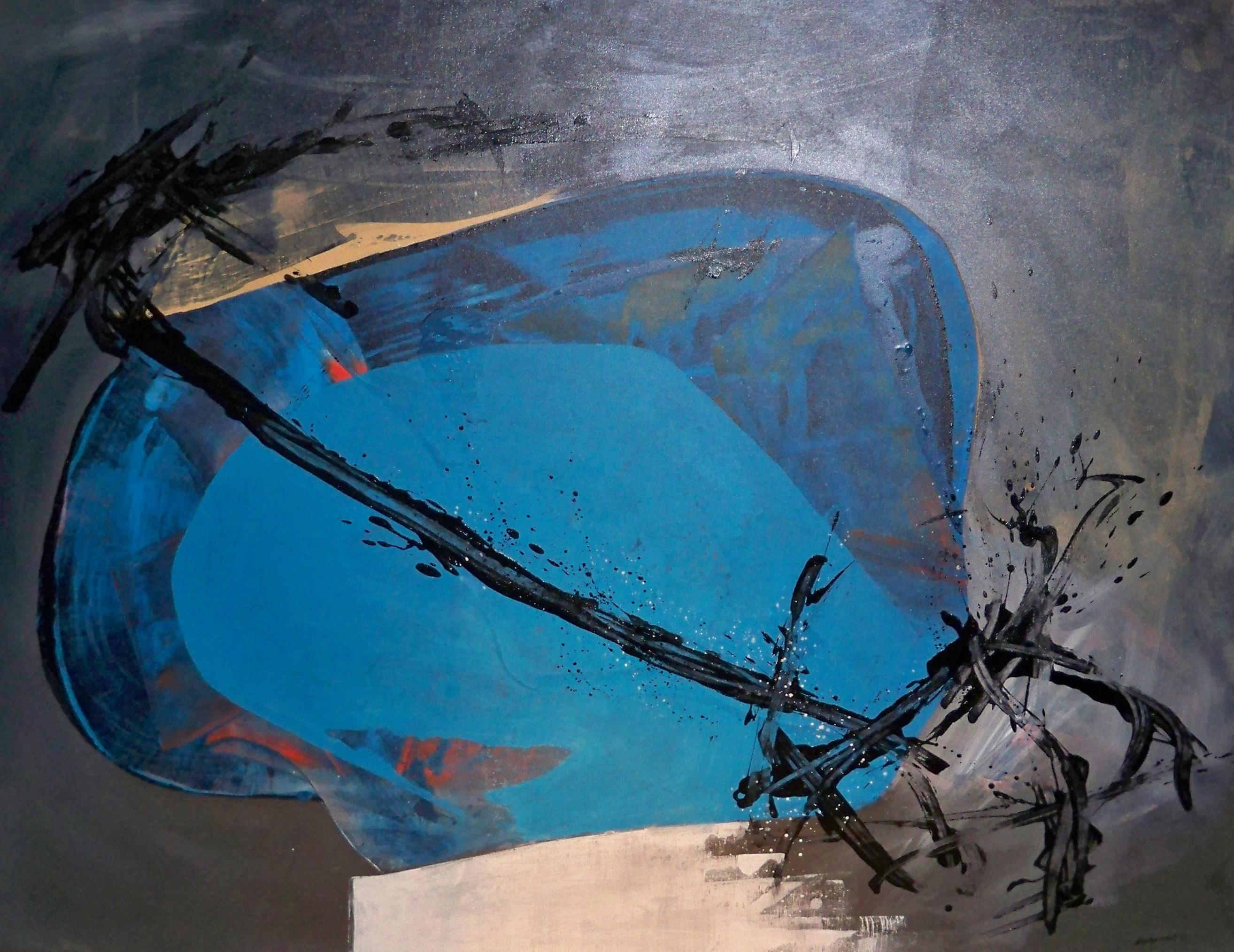 Circular Blue Abstract