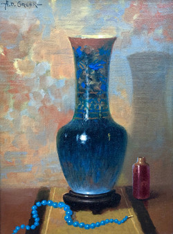Still-life with Blue, Glass Vase