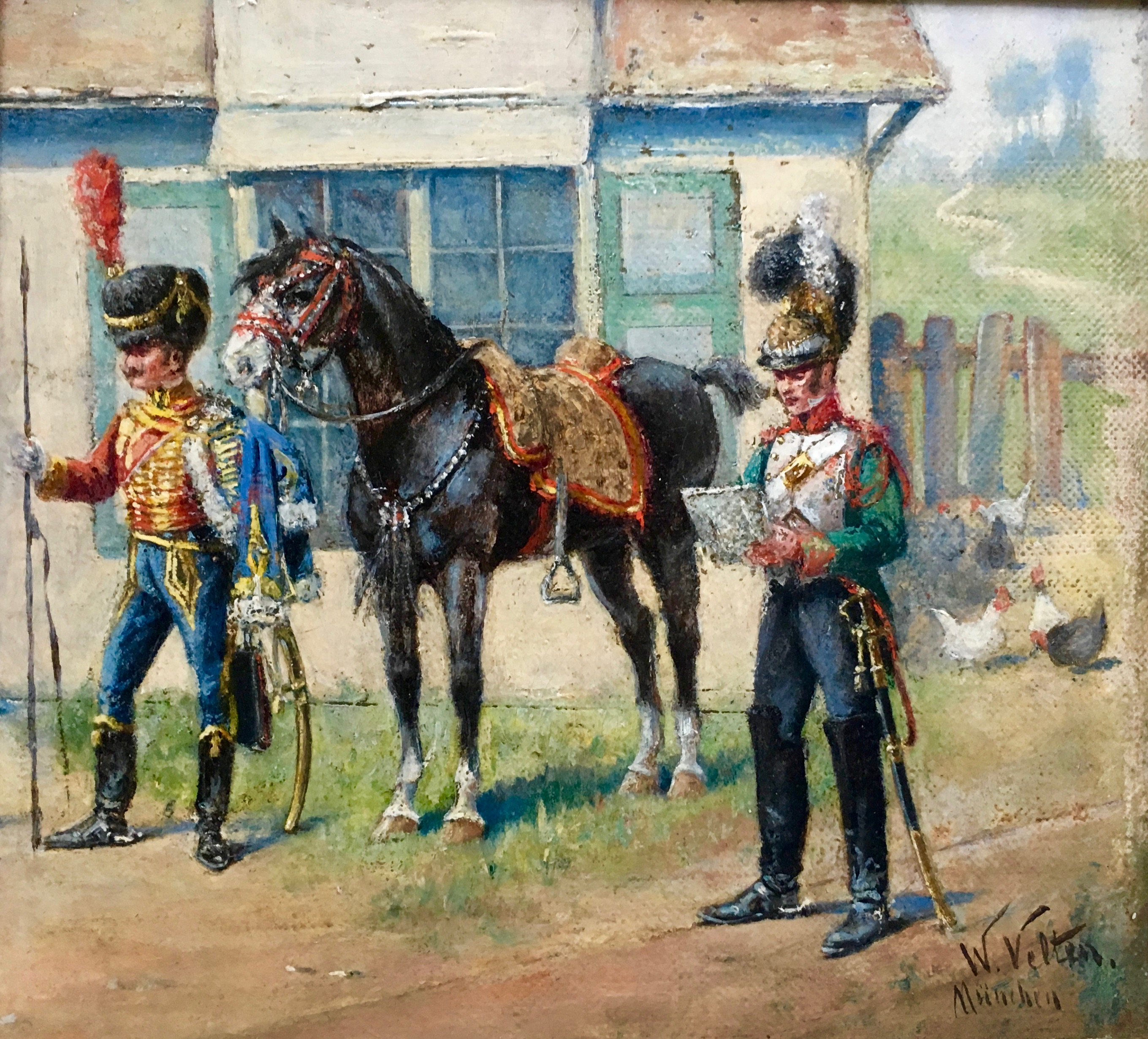 """Two Generals and A Horse"""