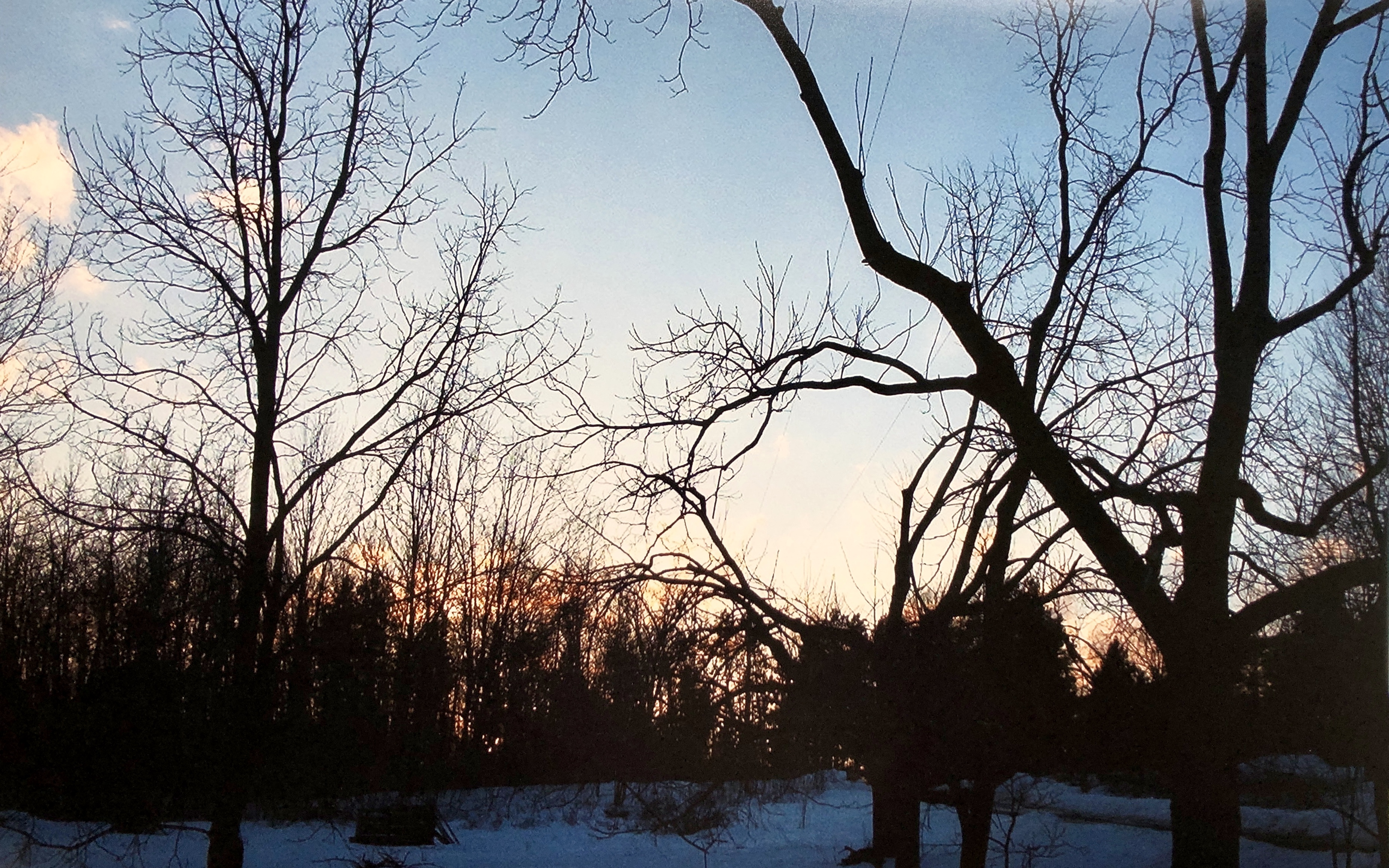 Pale Winter Sunset