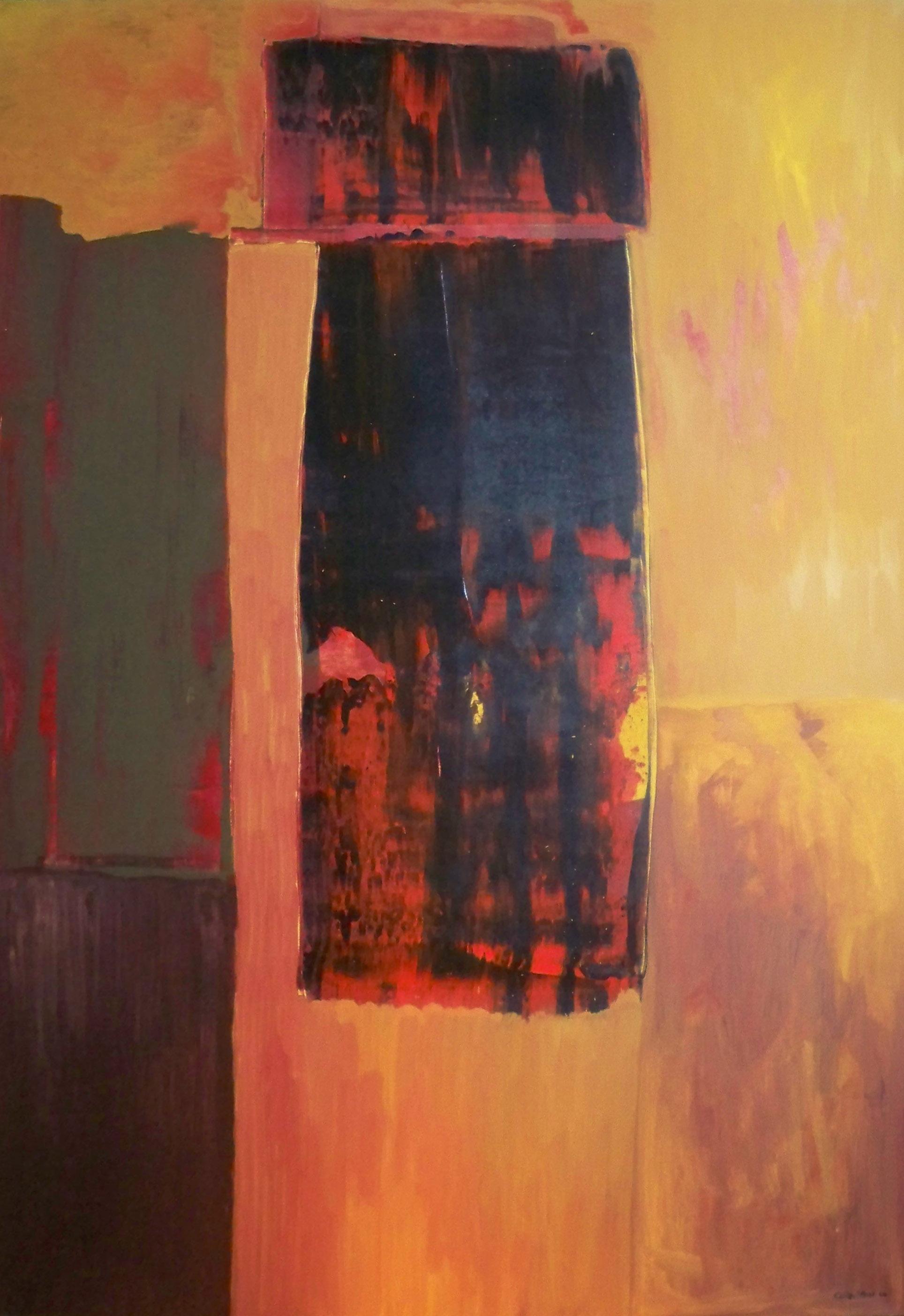 Rectangular Orange Abstract