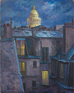 Night Scene with Capitol Dome