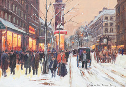 Winter Street Scene without frame