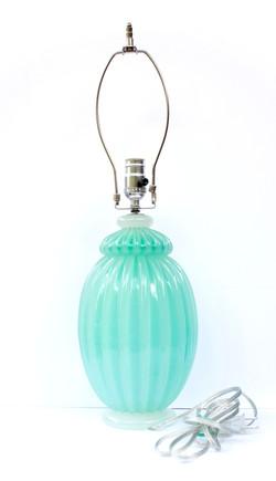Italian Art Glass Lamp