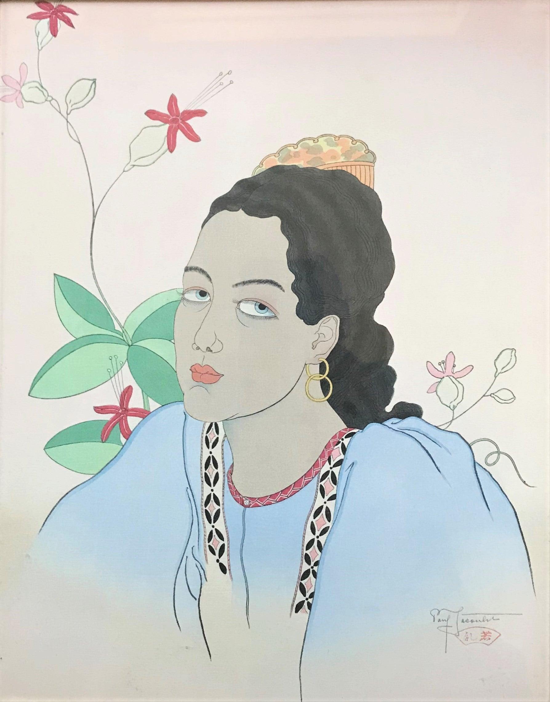 Une jeune fille de Fidji. Oceanie, 1