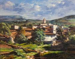 Catalonian Village Scene