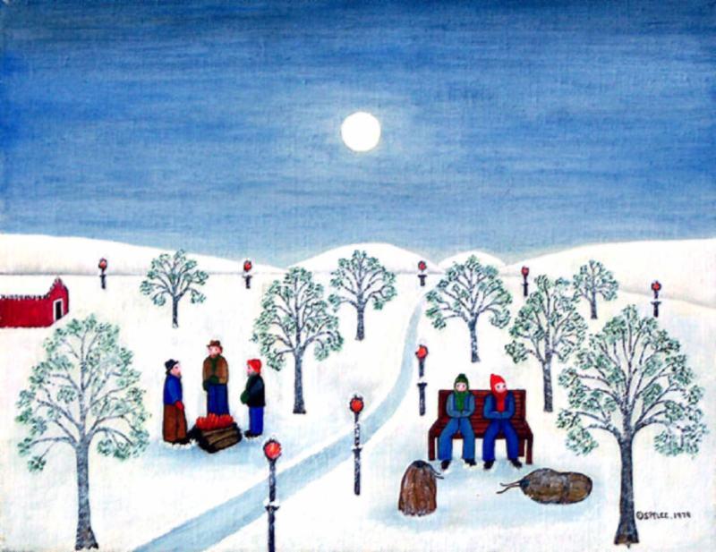 Winter Night in City Park, 1979
