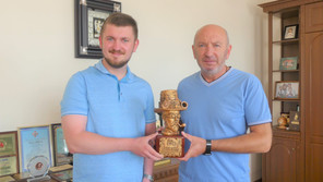 """The team of the BRUKIVKA awarded the statuette """"Golden Levarius"""" of Kamianets-Podilsky Mayor"""