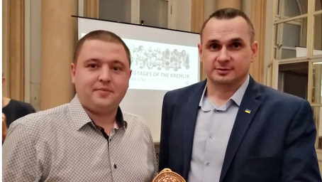 Oleg Sentsov received the BRUKIVKA medal in Slovakia