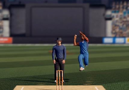 Cricket bowler HD graphics