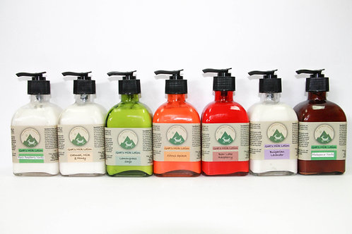 Goat's Milk Lotion in Recycled Glass Bottles