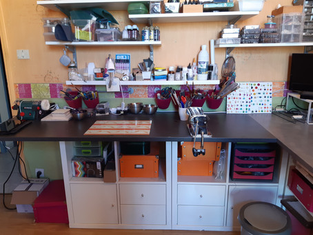 Mon atelier bien rangé et c'est rare !!!