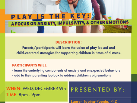Parenting Workshop on Wednesday, December 9